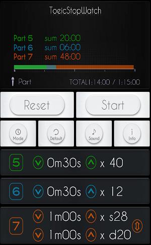 TOEIC アプリ stopwatch1
