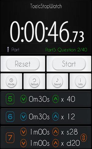 TOEIC アプリ stopwatch2